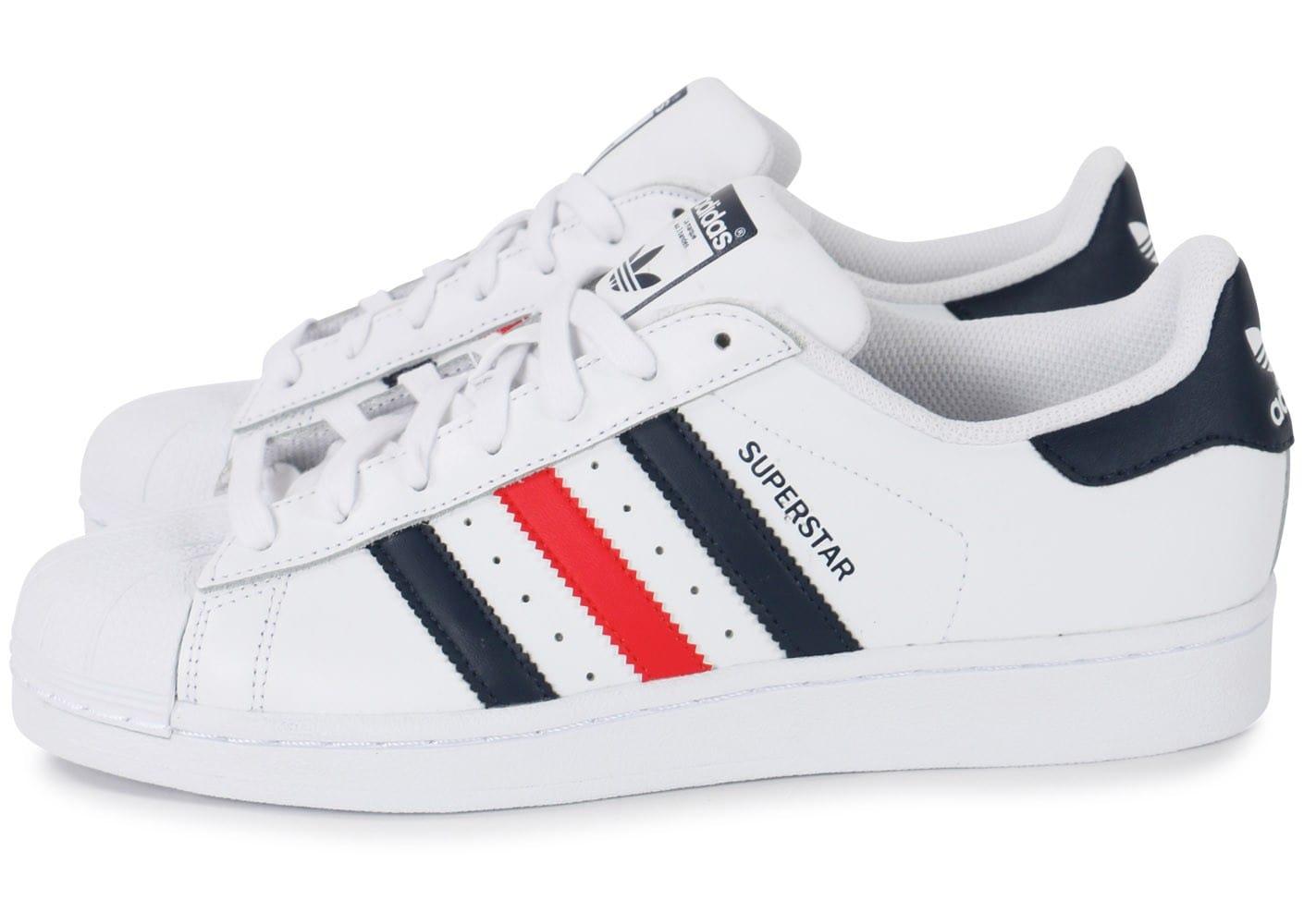 adidas superstar hommes noir et rouge
